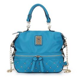 Wholesale Kim Kardashian Bags - HOT Sale Kim Kardashian Kollection KK Shoulder Bag Designer Brand Bag Handbags Women Rivet Fashion Bucket Gold Chain Messenger Bags