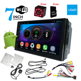 Wholesale wifi gps dvr car - 7 inch Universal Head-unit Quad Core 1024*600 Android Car GPS Navigation Multimedia Player Radio Bluetooth Wifi DVR Ready
