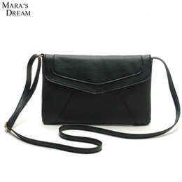 Wholesale Thin Messenger Bag - Wholesale- Mara's Dream Women Handbag PU Leather Casual Small Messenger Bag Sling Retro Thin Vintage Envelope Shape Crossbody Shoulder Bag