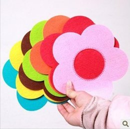 Wholesale Heat Sweet - Wholesale- 1 Pieces Hot Sale Sweet Novelty Environmentally Friendly Soft Fabric Sunflower Heat Insulation Cup Pads Mat Wholesale