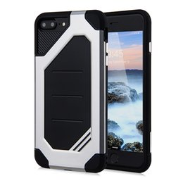 Wholesale New Shock Proof Case Cover - New for iPhone 6 6s Case PC+TPU 2 in 1 ARMOR Cover Strong Protect Shock Drop Proof Gasbag Robot Camera Protect hot sale