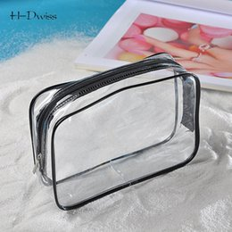 cosmetic bags cases wholesale Coupons - Wholesale- HDWISS Free Ship Environmental Protection PVC Transparent Cosmetic Bag Women Travel Make up Toiletry Bags Makeup Organizer Case