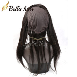 Wholesale Closure Cap - 360 Lace Band Frontals Back Lace Frontal Closure With Cap Silky Straight Virgin Brazilian Human Hair Circular Closures With Baby Hair