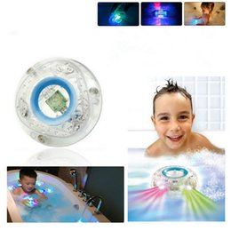 Wholesale Led Bath Sets - LED Bath Toy Party In The Tub Light Waterproof Bathroom Bathing Tub LED Lights Toys Bath Water LED Light Kids Bathtub Children Funny Time