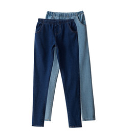 Wholesale Cargos Woman Lowers - Wholesale- 2016 Fashion Pencil Jeans Woman Casual Denim Stretch Skinny Jeans Vintage High Waist Jeans Women Black Blue Plus Size