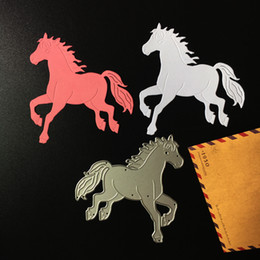 Wholesale horses crafts - Horse Metal DIY Cutting Dies Stencil Scrapbook Card Album Paper Embossing Craft