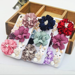 Wholesale free flower designs - luxury fashion Phone Cases for iphone7 iPhone 7 6 6s Plus S7 hard PC Protector Cover with flower rabbit design defender case DHL free GSZ313