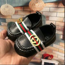 Wholesale Leather Soft Soled Baby Shoes - New Brand Sneakers Romirus Autumn baby moccasins infant anti-slip PU Leather first walker soft soled Newborn 0-1 year Baby shoes