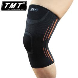 Wholesale Knee Padded Tights - Wholesale- Breathable Basketball Football Sports Kneepad High Elastic Knee Pad Tight Protective Kneelet HX01