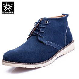 Wholesale Fleece Sewing - Wholesale- Add Fleece Men Ankle Boots High Top Shoes EU 38-44 Warm Fashion Boots For Man Solid Color Work Boots