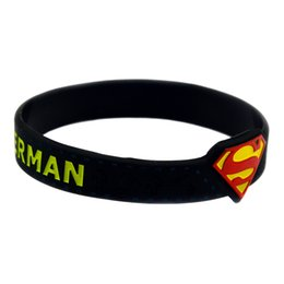 Wholesale Silicone Wristband Superman - Hot Sell 1PC Superman Logo Silicone Wristband Wrist Watch Shaped, Perfect To Use In Any Benefits Gift For Gamer