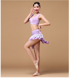 Wholesale Sexy Dance Set Wear - High quality sexy belly dancing wear traning costumes yoga costumes practice cloth tops with skirt sets