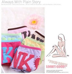 Wholesale Comfortable Women S Cotton Underwear - DHL Free Fashion Women VS pink color briefs elastic waist letters printed cotton underwear lady comfortable movement underpants