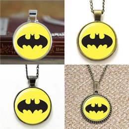 8462df311dc geek glasses 2019 - 10pcs Bat man Superhero Pendant Geek Hipster Necklace  keyring bookmark cufflink earring Find Similar