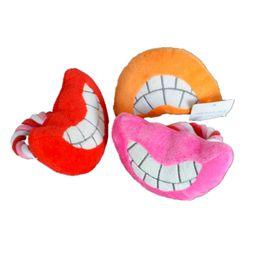 Juguetes sexuales de peluche online-Lindo perro de la historieta del perro Chew Squeaker Sex Lips forma Squeaky Plush Sound para perro Sound Teethers Toy orden de la mezcla 30PCS / LOT