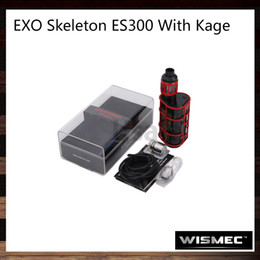 Wholesale Skeleton Child - Wismec EXO Skeleton ES300 With Kage Kit 200W or 300W Top OLED Screen TC Box MOD 2.8ml Kage Atomizer Creative Child Lock System 100% Original