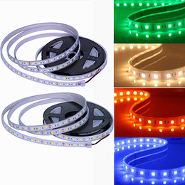 Wholesale Silicone Led Waterproof Smd - SMD 5050 Led strip lamp light Silicone Tube waterproof IP67 60 leds m DC12V flexible light Warm White,White,Green,Blue,Red,RGB