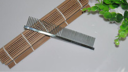 Wholesale Wholesale Sided Dog Brushes - Pet Comb Stainless Steel Needle Grooming 16cm Dog Comb Single-Sided Unhairing Cats Removal Hair Combs Free Shipping ZA3783