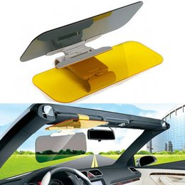 Wholesale Car Anti Driver - Stylish Car Sun Visor Anti Dazzling Mirror Driver Day & Night Vision Auto Driving Clear View Glass Sunglasses Sunshade Accessories
