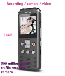 Wholesale Pen Pixel - Wholesale-Camera Recorder Pen 16GB 720P HD Video Recording Micro Mini Telephoto Professional Authentic Stealth Mp3 500W Pixels Tachograph
