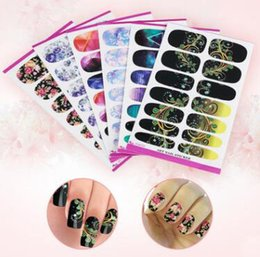 Wholesale 3d Nail Full Cover Stickers - 20 Different Pieces 3D Mix Color Floral Design Full Cover Nail Art Stickers Decals Manicure Beautiful Fashion Accessories Decoration