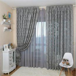 cortinas para el hogar diseños Rebajas 1pcs 100x 270cm Diseño de estilo de hoja Jacquard Cortina opaca Persiana para ventana Sala de estar Decoración del hogar