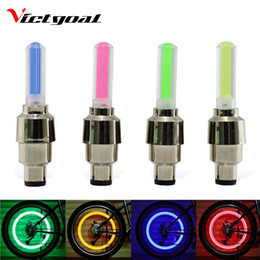 Wholesale Colorful Mtb Wheels - Wholesale- VICTGOAL Bike Tyre Light Cycling Colorful LED Lights Mountain Road Bike MTB Spokes Wheel Cycling Bicycle Accessories Light N1012