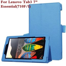 Wholesale I Touch Tablets - Wholesale- 2016 New PU Leather Tablet Case Cover For Lenovo Tab3 7 Essential 710F 710I Stand Case For Lenovo Tab 3 710 710F I + touch pen