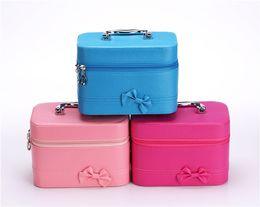 Wholesale Blue Crossbody Bags - New Cosmetic Bag Mini Women Makeup bag Travel Portable Handbag Crossbody Bags Multi-function cosmetic bag