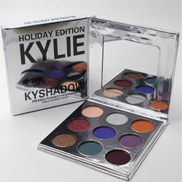 Wholesale Holiday Outlet - new Holiday edition Kyshadow THE BURGUNDY PALETTE Kylie Cosmetics Jenner eyeshadow Kit Palette Bronze Cosmetic 9 Colors Factory Outlet