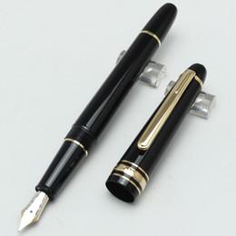 Classique argento / oro cilp metallo e penna stilografica in resina 145, stazionario MB di lusso stazionario penna bianca stellato numero di serie dell'intarsio da