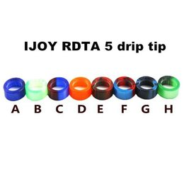 Wholesale Newest Electronic Cigarette Atomizer - Newest Epoxy Resin Drip Tips For iJOY RDTA 5 Tank Atomizer High quality Wide Bore Mouthpiece Electronic Cigarette