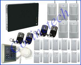 Wholesale Option Language - Smart Home Security GSM Alarm System with multi-language for option, Smart App,password keypad,quad-band burglar alarm system