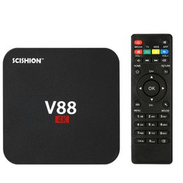 Wholesale Free Online Movies - V88 Android TV Box Rockchip 3229 Smart Boxes 4K Quad core 16.1version Full Loaded support 3D Free Movies Online Mini PC Media Player