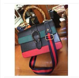 Wholesale Black Leather Sling - women bag2017 ladies leather luxury handbags women famous brands bags designer shoulder crossbody Bamboo handle sling sac a main