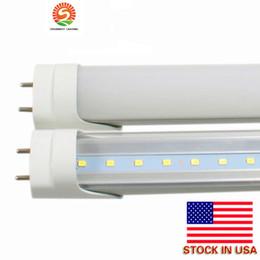 Wholesale Led Tube Tuv - T8 LED Tube 22W 4ft 1.2m LED fluorescent tube lamp SMD2835 AC85-265V CE RoHS UL FCC ETL SAA TUV 25pcs lot