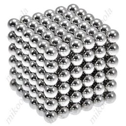 Wholesale Magnetic Ball 5mm - Wholesale- New Style 216 x 5mm Magic Magnet Magnetic DIY Balls Sphere Neodymium Cube Puzzle