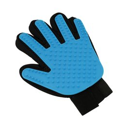 leather hair gloves Coupons - Wholesale- 1pc Pet Cleaning Brush Glove Dog Cat Massage Hair Removal Grooming Bath Glove Touch Gentle Efficient Pet Glove YL885271