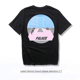 Wholesale Hot Selling Curtains - 2017 Hot selling Palace Skateboard TRI-CURTAIN T-Shirt Men Women 2017 Summer Hip Hop T shirts Short Sleeve