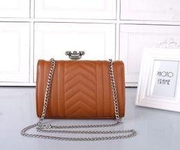 Wholesale Purse Handles Leather - Women fashion tote bag shoulder messenger bag handbag lady leather purse with silver chain strap 8869 good quality purse 5 colors