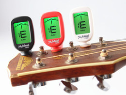 Wholesale Ukulele Guitars - Chromatic Clip on Tuner Guitar Bass Violin Ukulele Banjo Big LCD High Accuracy Clip-on Tuner Musicians Recommended Easy to Read LCD Display