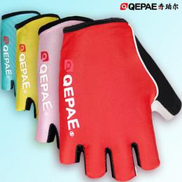 Wholesale Fingerless Padded Gloves - 2017 New Biking Gloves Gel Pad Luminous Fingerless Glove Crossfit Gloves For Safe Night Riding Cycling Hiking Spinning