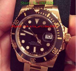Wholesale Mens Watch Diamond Dive - Luxury Watches Wristwatch New Sport Model Ceramic 18kt Yellow Gold 40mm Black Diamond Dial 116618 Mechanical Dive Mens Specialized Wrist