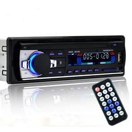 Wholesale Radio Receiver Card - Wholesale- Bluetooth Car MP3 Radio Audio Stereo In Dash FM Aux Input Receiver USB Disk SD Card Remote Hands-free Calls Autoradio