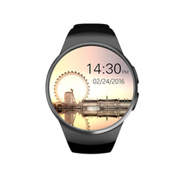 KW18 Smart Bluetooth Watch Entièrement arrondi Android / iOS Reloj Inteligente Carte SIM Moniteur de fréquence cardiaque Montre Horloge Mic Anti perdu ? partir de fabricateur