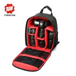 Wholesale Waterproof Case For Digital Camera - Wholesale- Tigernu Brand Waterproof Digital DSLR Camera Video Backpack Camera Lens Case Muti-functional Bag for Nikon Canon Sony