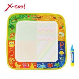 Wholesale Eva Alphabet Mat - 1 Pcs 29x30cm Non-toxic Water Drawing Mat With 1 Magic Pen for Kids XC8811-1