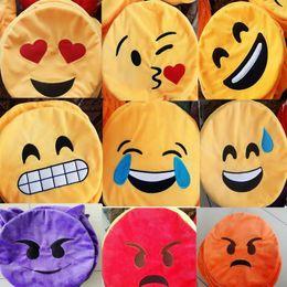 Wholesale Cartoon Poop - 34cm 13inch Emoji Poop Pillows Skins Cute Lovely Emoji Smiley Pillows Cartoon Cushion Pillows 19 Style Plush Toys with Zipper