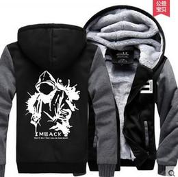 livraison gratuite eminem Promotion En gros-Hot New Eminem Hoodie Hip-Hop Hiver Polaire Hommes Sweatshirts Livraison Gratuite