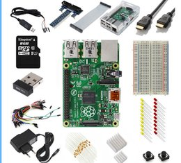 Wholesale B Component - Freeshipping Raspberry Pi 3 Model B 1GB RAM Quad Core 1.2GHz Complete Starter Kit Includes over 40 components Raspberry Pi 3 Model B